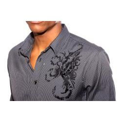 191 Unlimited Mens Black Scorpion Print Shirt