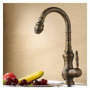Antique Brass Kitchen Faucet (Antique Copper Finish)