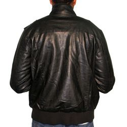 191 Unlimited Mens Faux Leather Stand Collar Jacket