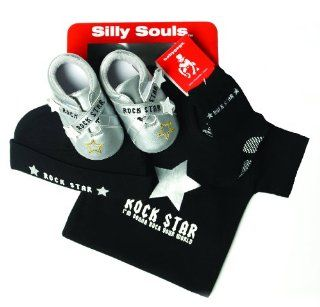 com Silly Souls Rock Star Baby Shoes, Silver, 12 18 Months Clothing