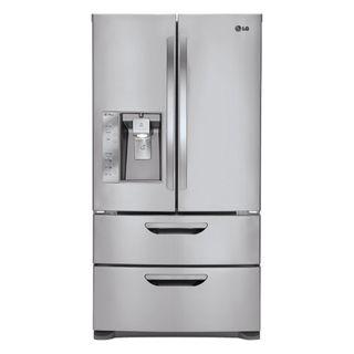 LG LMX31985ST Freestanding 30.5 Cubic Foot French 4 Door Refrigerator
