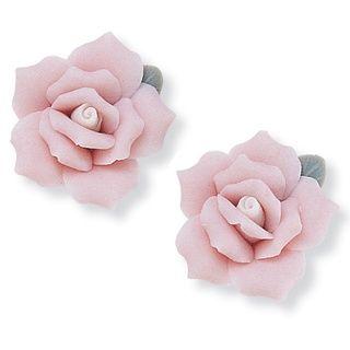 Lillith Star Ceramic Rose Flower Earrings