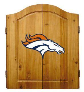 NFL Denver Broncos Complete Dart Cabinet (w/board, darts