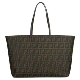 Fendi 8BH199 Medium Coated Canvas Zucca Tote Bag
