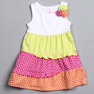 Flapdoodles Toddler Girls Rib Colorblocked Tank Dress