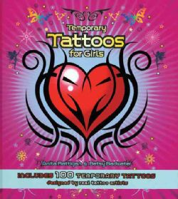Temporary Tattoos for Girls Includes 100 Temporary Tattoos (Spiral