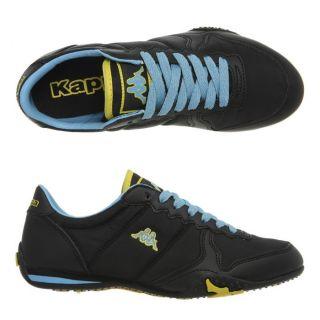 Modèle Parity. Coloris  noir/bleu ciel/jaune. Baskets Enfant lacets