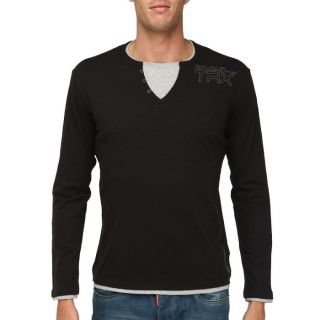 TRAXX T Shirt Homme Noir Noir   Achat / Vente T SHIRT TTRAXX T Shirt