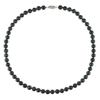 Miadora Akoya Black Pearl Necklace (6 6.5 mm)