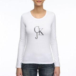 CALVIN KLEIN JEANS T Shirt Femme Blanc Blanc   Achat / Vente T SHIRT