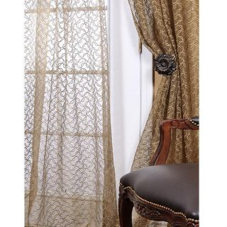 Organza Sheer Bettlenut Pine 108 inch Curtain Panel