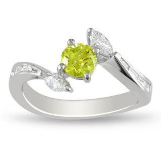 Miadora 14k Gold 1ct TDW Yellow and White Diamond Ring (G H, I1 I2