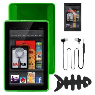Deluxe  Kindle Fire TPU Case/ Screen Protector/ 3.5mm Mic