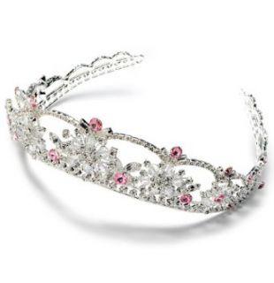 Pink Rhinestone Wedding Headband Bridal Tiara 167P
