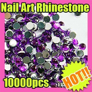 2mm purple round nail art glitter rhinestone 168