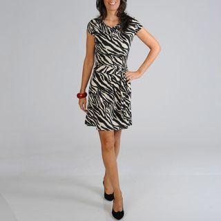 Sharagano Womens Zebra Print Dress