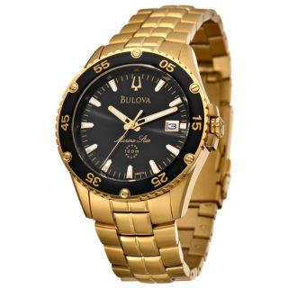 Bulova Mens Marine Star Goldplated Stainless Steel Quartz Watch
