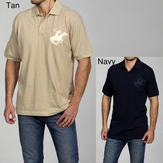 Beverly Hills Polo Club Mens Solid Polo
