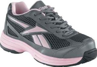 Key Player Pewter/Pink Cross Trainer Steel Toe Shoe 12 W US Shoes