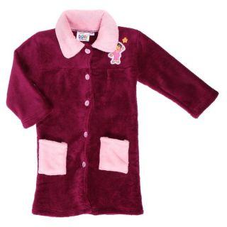 DORA Robe de chambre Fille Prune Prune et rose   Achat / Vente SORTIE