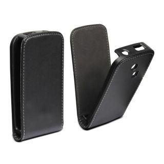 Muvit Etui clapet noir pour Samsung Chat 335   Achat / Vente HOUSSE