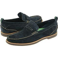 Sperry Top Sider Seaside Penny Blue Gray Loafers