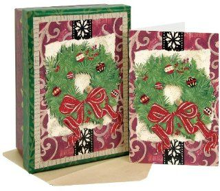 CR Gibson Country Christmas Boxed Cards, Country Wreath