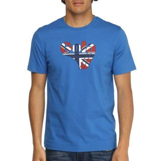 Modèle Wilson II. Coloris  bleu royal. T shirt GOLA homme 100% Coton