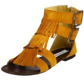 com Steve Madden Womens Hippster Gladiator Sandal,Mustard,5 M Shoes