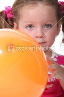 Little girl holding a balloon  Foto Stock © photography33 #10850576