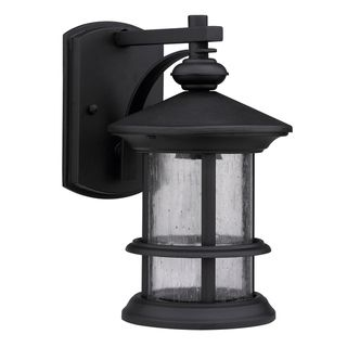 Transitional Black 1 light Outdoor Wall Fixture