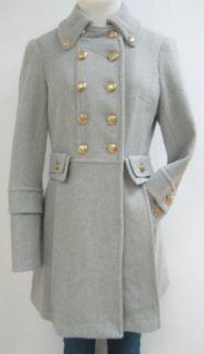 Bebe Military Wool Coat, Jacket, Grey, Large ,170bb