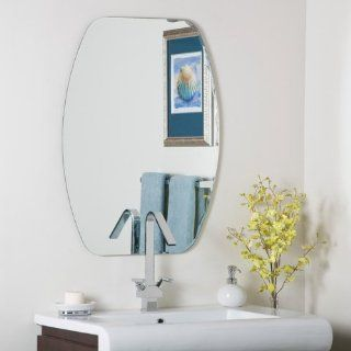 Frameless Oval Bathroom and Wall Mirror   572582 Patio