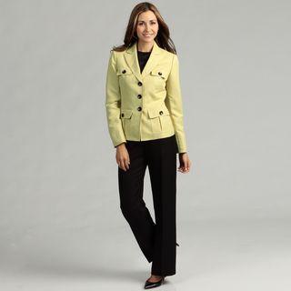 Evan Picone Womens Zesty/ Black 3 button Pant Suit
