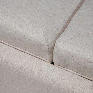 Christopher Knight Home Maxwell Light Grey Fabric Tray Ottoman