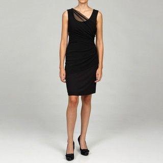 Grace Elements Black Side gathered Tank Dress