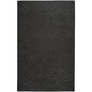 Hand woven Candice Olson Black Wool Rug (33 x 53)