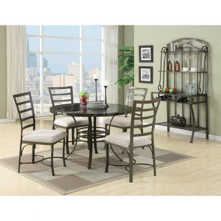 Val 5 Piece Black Faux Marble Top Pack Dining Set Today $341.99 2.0