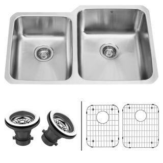 VIGO 32 inch Undermount Stainless Steel Kitchen Sink, Two Grids and
