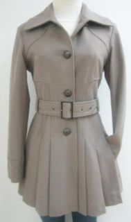 Guess Belted Wool Coat, Jacket, Taupe, Small, Mw189