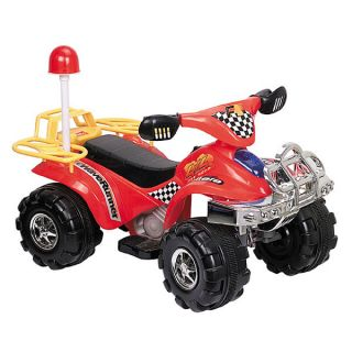 Red Off Road Battery Operated 4 Wheeler ATV