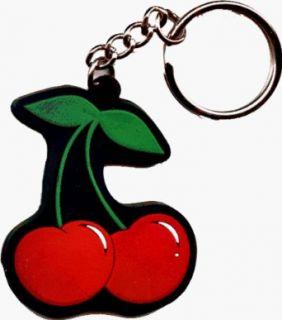 Pair of Cherries Rubber Keychain (Rockabilly Cherry