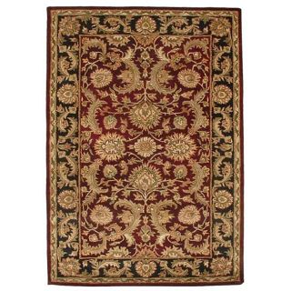 Hand tufted Rano Red Oriental Wool Rug (8 x 106)