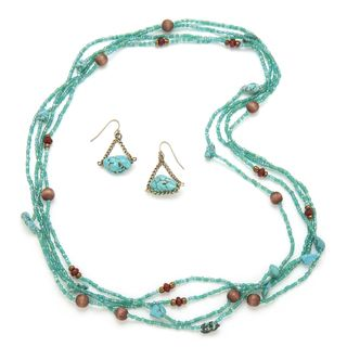 Alex Rae by Peyote Bird Designs Endless Turquoise and Bead Necklace