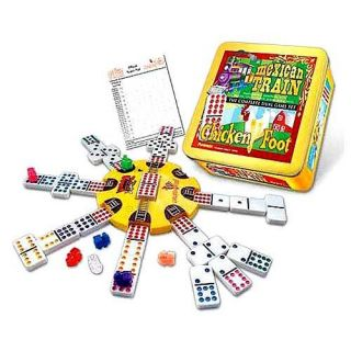 Mexican Train and Chickenfoot Dominoes The Complete Dual Game Set