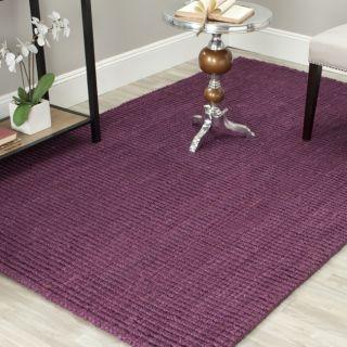 Hand woven Weaves Purple Fine Sisal Rug (8 x 10) Today $295.59 Sale