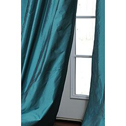 Faux Silk Signature Teal 108 inch Curtain Panel