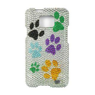 Full Rhinestone Dog Paws Case for AT&T Samsung Galaxy SII I777