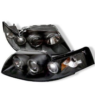 Ford Mustang 99 04 Halo Projector Headlights   Black
