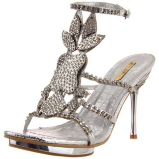 Celeste Womens Joyce 08 Silver Rhinestone Shield Heel Today $49.99